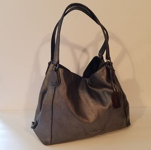 Coach Eddie Gun Metal Colored Bag